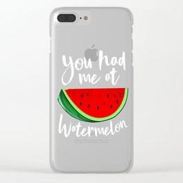 You Had Me At Watermelon Tropical Summer Vibes Fruit Clear iPhone Case