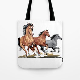 Running Horses Shirt - Gift For Horse Lovers Tote Bag