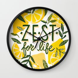 Zest for Life – Yellow & White Palette Wall Clock