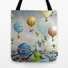 Ballooning over everywhere: Paris Tote Bag