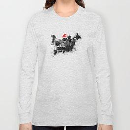 Abstract Tokyo-Shinjuku/Kyoto - Japan Long Sleeve T-shirt