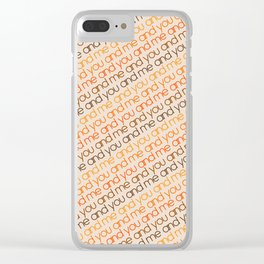You and Me Golden Clear iPhone Case