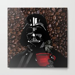 The Dark Side of Coffee Metal Print