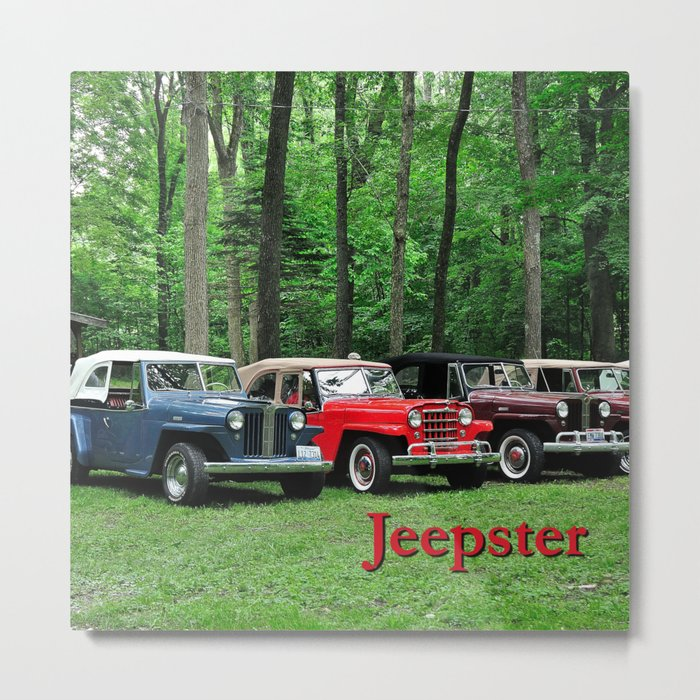 Springtime Jeepsters Metal Print