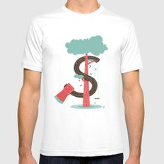 Money and Trees MEDIUM Mens Fitted Tee White