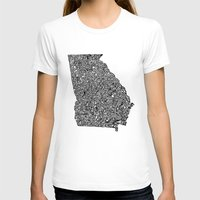 georgia T-shirts featuring Typographic Georgia by CAPow!
