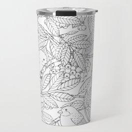 Birds on Rowan Tree Pattern Travel Mug