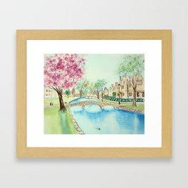 Summer in Bourton Framed Art Print