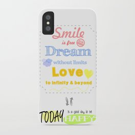 {ENG} SMILE · DREAM · LOVE iPhone Case