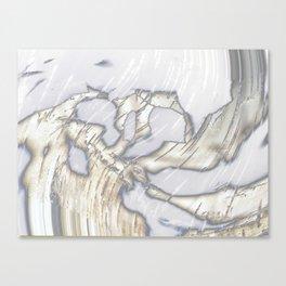 Birch Bark Silver Canvas Print