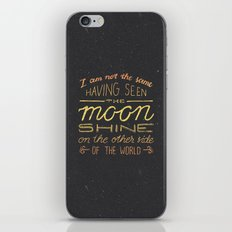 moon quote iPhone & iPod Skin