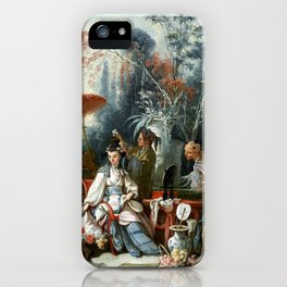 The Chinese Garden - Francois Boucher iPhone Case