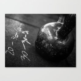 Workout of the Day Canvas Print