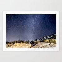 milky way Art Prints featuring Milky way by Garrett Lockhart
