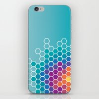 honeycomb iPhone & iPod Skins featuring Honeycomb by AleyshaKate