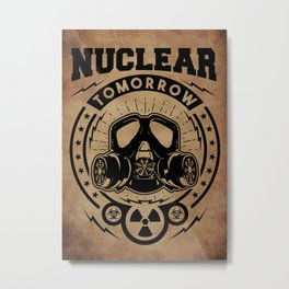 Nuclear Tomorrow vintage Metal Print