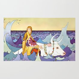 """Europa and the Bull"" by Virginia Sterrett Rug"