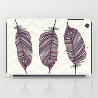 feather iPad Cases featuring FEATHER by Monika Strigel