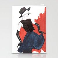 fringe Stationery Cards featuring Fringe by Sweet Bliss Art