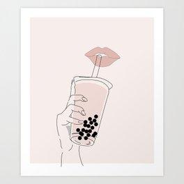 Boba is Life Art Print