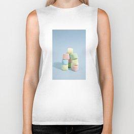 tower of rainbow marshmallow Biker Tank