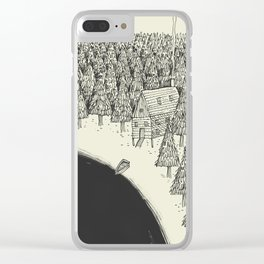 'Isolation' (B&W) Clear iPhone Case