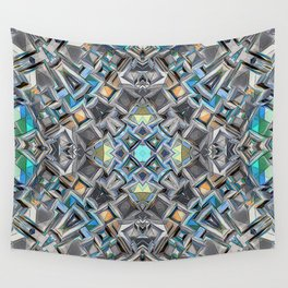 Colorful Geometric Structure Wall Tapestry