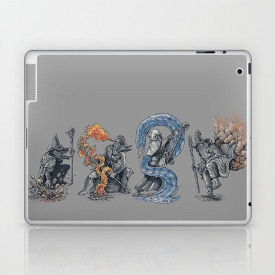 earth - fire - water - (bad) air Laptop & iPad Skin