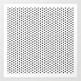 Handdrawn Polka Dot Art Print
