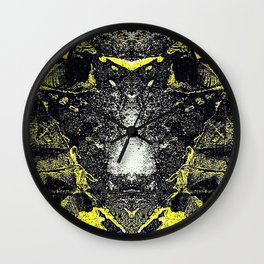 Hot Line Moth Wall Clock