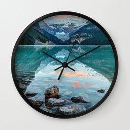 Lake Louise, Banff National Park, Alberta, Canada Wall Clock