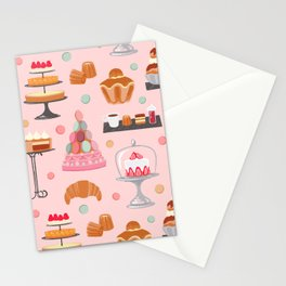French pastries in pastel Stationery Cards
