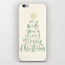 We Wish You A Merry Christmas iPhone Skin