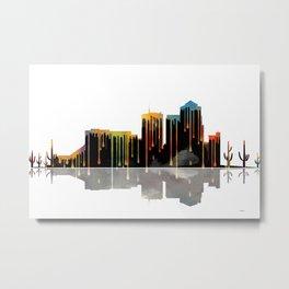 Tucson Skyline BW1 Metal Print