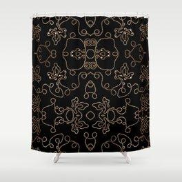 Elegant gold embellishments on black Shower Curtain