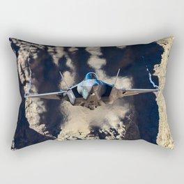 F-35 in Death Valley Rectangular Pillow