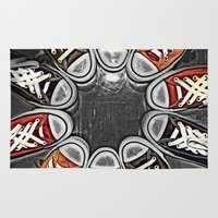 chuck Area & Throw Rugs featuring Chuck Yeah!  by MistyAnn @ What the F-stop Prints
