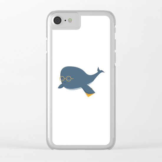 Ms. Whale Clear iPhone Case