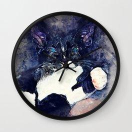 cat jagoda Wall Clock
