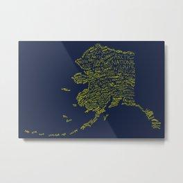 Alaska: Blue and Gold Metal Print