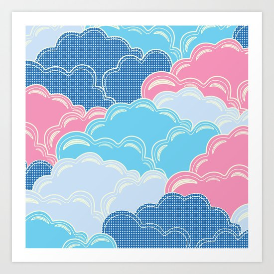 Pillows in the Sky (Clouds no.2) Art Print