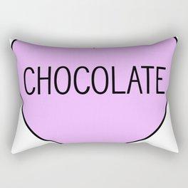 Chocolate Heart Rectangular Pillow