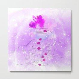 Purple In Mind Metal Print