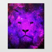 hipster lion Canvas Prints featuring Hipster Lion by Berberism