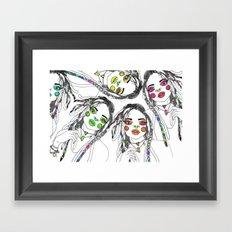 Digital_Girl Framed Art Print