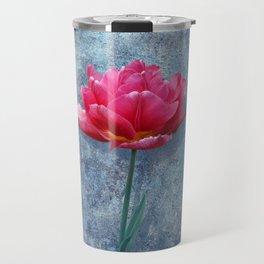 Pink Tulip Travel Mug