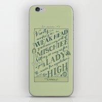 jane austen iPhone & iPod Skins featuring Jane Austen Covers: Emma by Leah Doguet