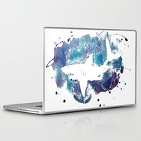 shark Laptop & iPad Skins featuring Shark by Vanishing Fin