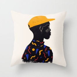 Yellow one Throw Pillow