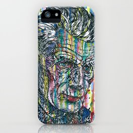 SAMUEL BECKETT watercolor and ink portrait iPhone Case